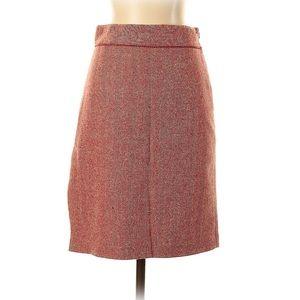 XS retro button slit herringbone pencil skirt